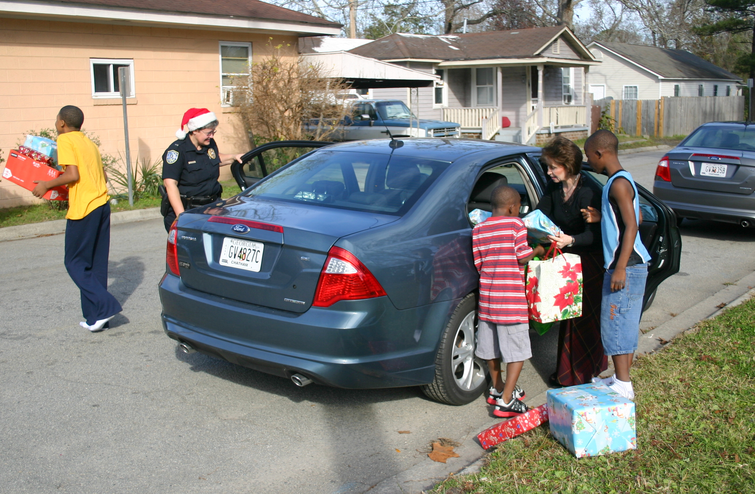 Chief's Elves deliver Christmas presents