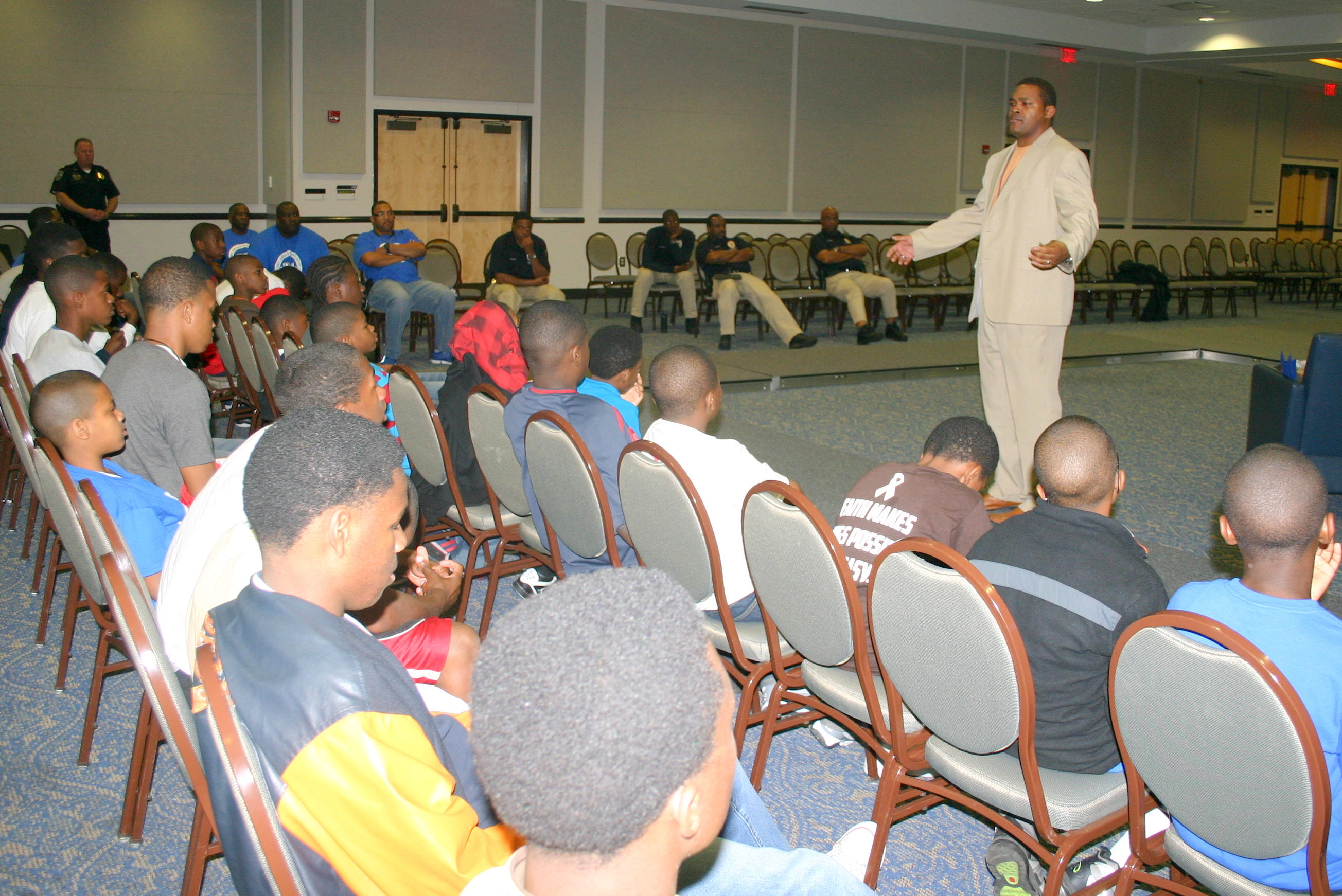 Britt Henderson reaches out to campers on planning for life, based on his own experiences.