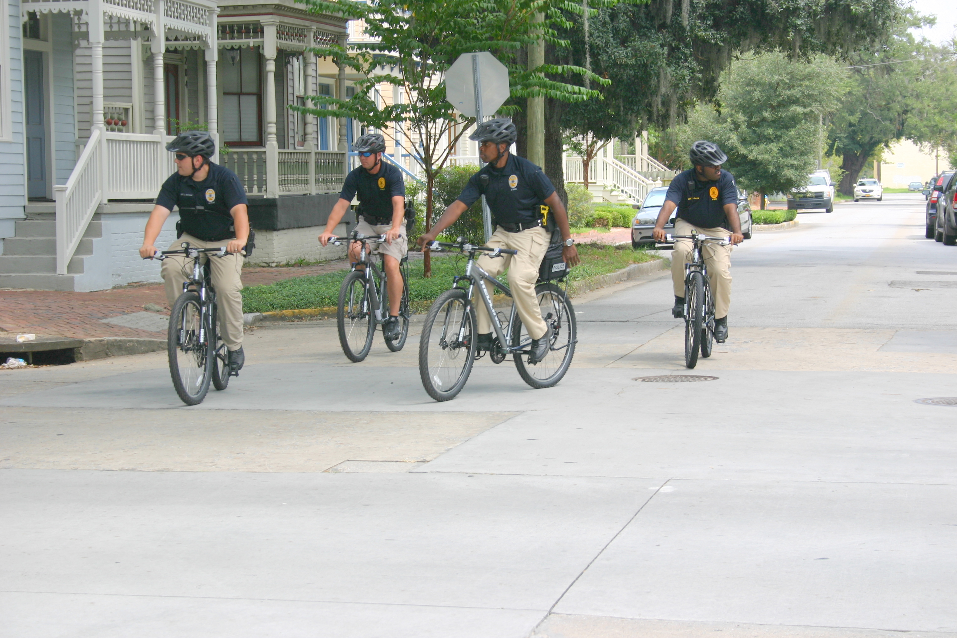 Pct. 3 CSU officers on bicycle patrol.