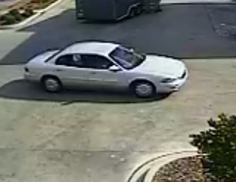 The suspect left the scene in this Silver Buick.