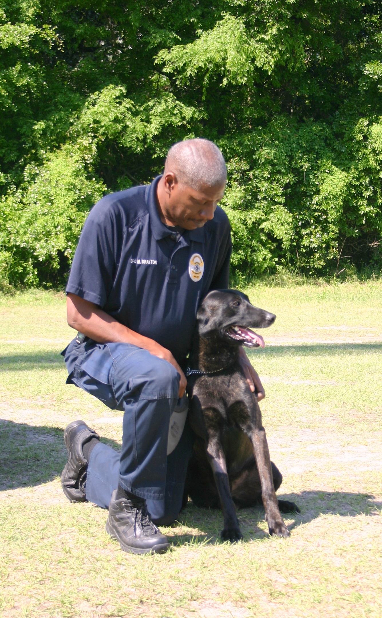 Ofc. Mike Drayton and Ziggy II