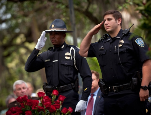 Officer McPhail Paying Respect