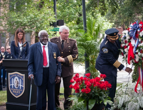Chief Tolbert Placing Wreath