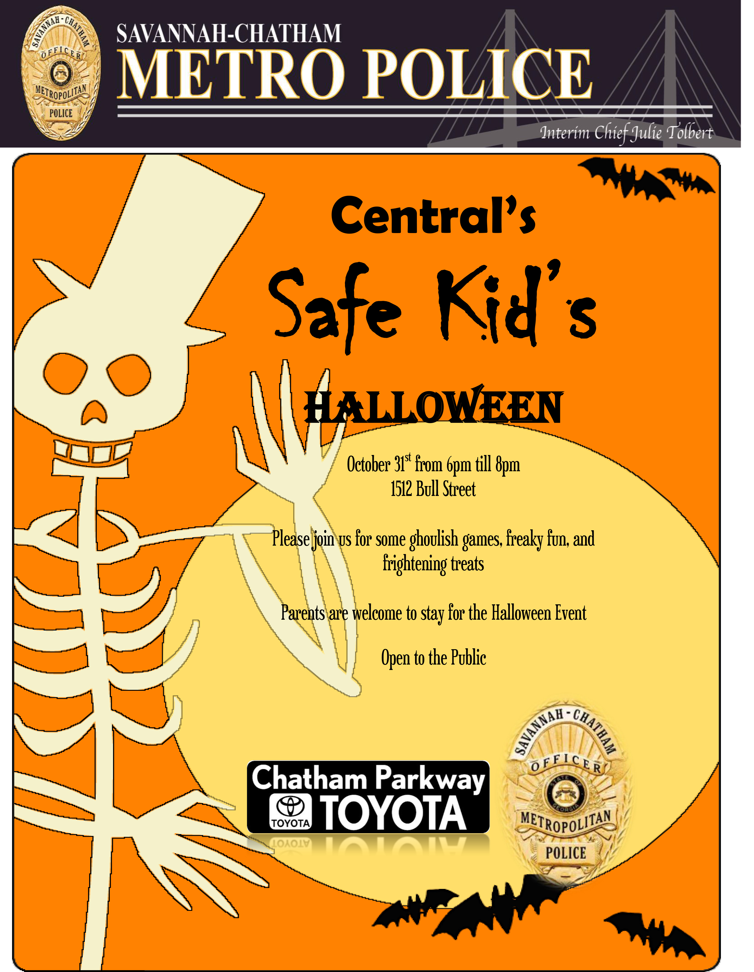Chatham Parkway Toyota >> Central S Safe Kids Halloween Event Teaming Up With Chatham Parkway