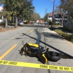 Motorcycle rests almost 2 blocks from collision at E. 39th and Paulsen