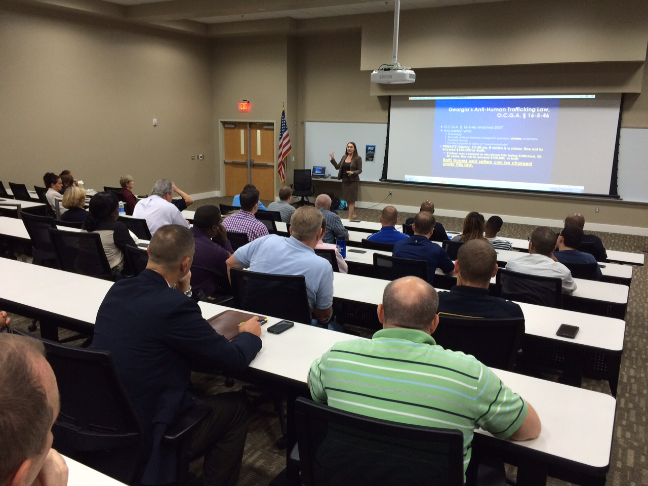 Sex trafficking training for police officers