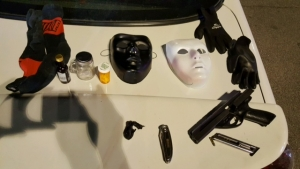 Guns and tools for commission of crime