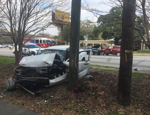 TIU Investigates 3-Car Crash on DeRenne Avenue