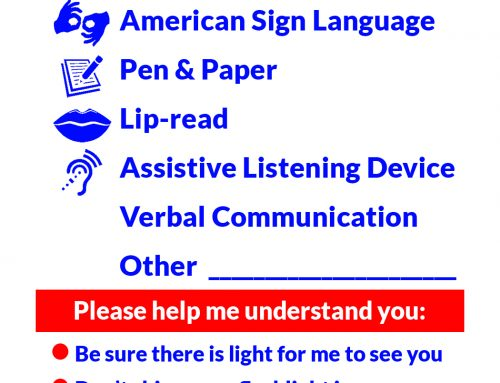 SPD Offers Communication Cards to Deaf or Hard of Hearing Community